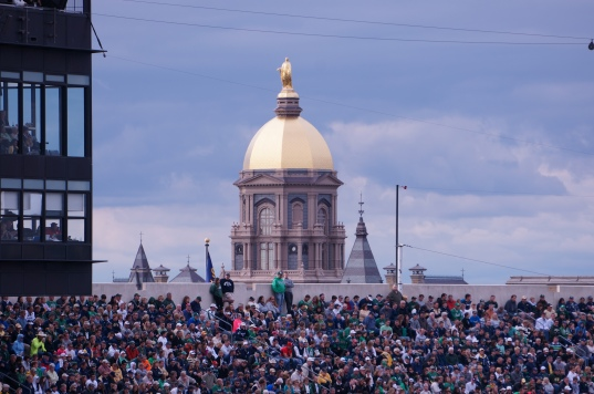 The Golden Dome Behind Notre Dame Stadium - Notre Dame, IN