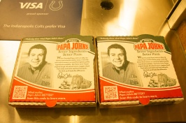 Papa John's Pizza Boxes @ Lucas Oil Stadium