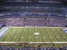 Inside of Lucas Oil Stadium - Indianapolis, IN